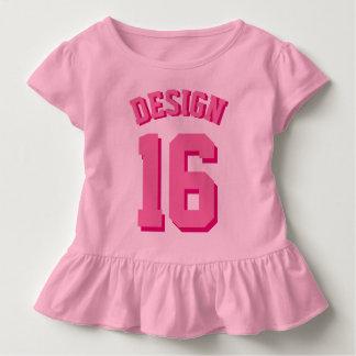 Camiseta Infantil Jérsei cor-de-rosa dos esportes da criança |