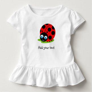 Camiseta Infantil Joaninha dos desenhos animados bonitos do