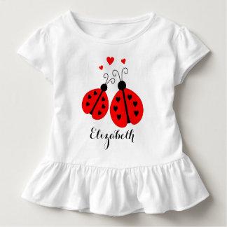 Camiseta Infantil Joaninhas personalizados no T Ruffled amor