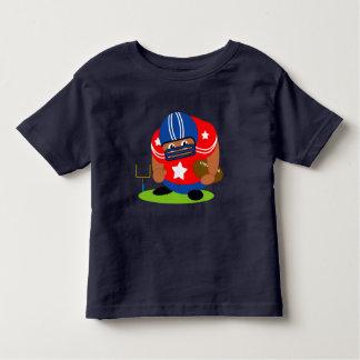 Camiseta Infantil Jogador de futebol americano bonito que guardara