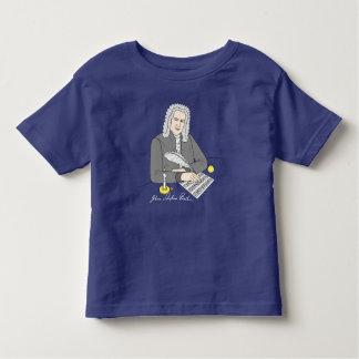 Camiseta Infantil Johann Sebastian Bach desenhado