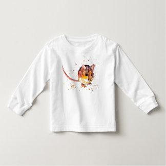 Camiseta Infantil langärmliches shirt para kleinkinder com rato