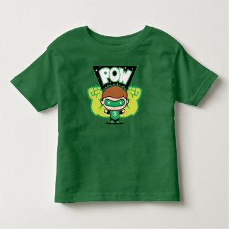 Camiseta Infantil Lanterna verde de Chibi que forma os punhos