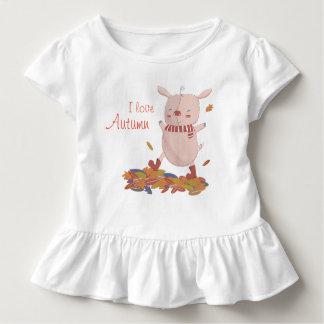 Camiseta Infantil Leitão do outono
