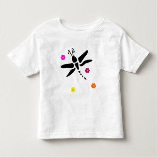 Camiseta Infantil libélula e flores
