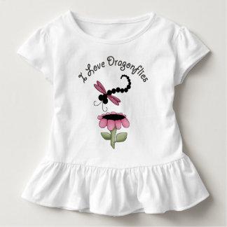 Camiseta Infantil Libélulas coloridas T Ruffled