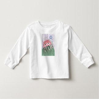 Camiseta Infantil Ligação em ponte da criança do pente das medusa