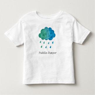 Camiseta Infantil Ligação em ponte de poça azul geométrica da nuvem