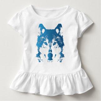 Camiseta Infantil Lobo do azul de gelo da ilustração