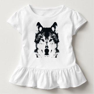 Camiseta Infantil Lobo preto da ilustração