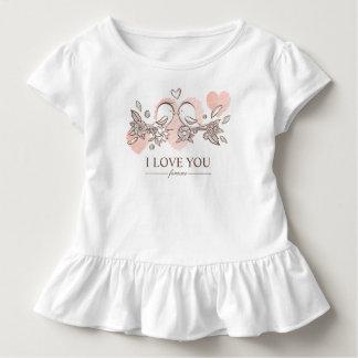 Camiseta Infantil Lovebirds adoráveis no T do plissado dos namorados