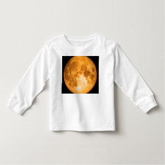 Camiseta Infantil Lua cheia alaranjada