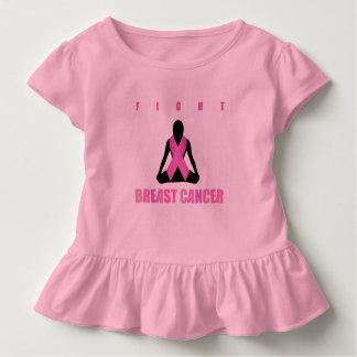 Camiseta Infantil Lute a fita do rosa do cancer do peito no corpo de
