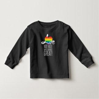 Camiseta Infantil Luva longa escura da criança do ódio do amor não