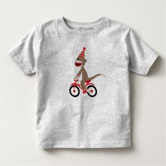 Camiseta Infantil Macaco da peúga na bicicleta