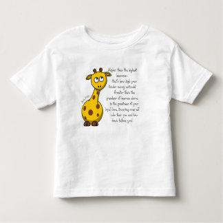 Camiseta Infantil Mais alto do que o t-shirt da criança dos céus