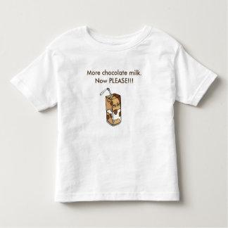 Camiseta Infantil Mais leite de chocolate