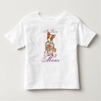 Camiseta Infantil Mamã do coração de Basenji