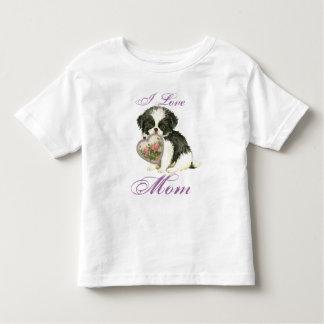 Camiseta Infantil Mamã do coração de Chin do japonês