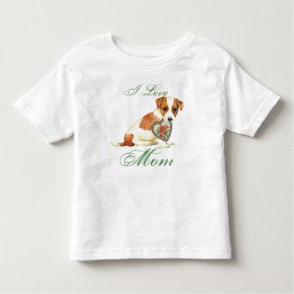 Camiseta Infantil Mamã do coração de Russell Terrier