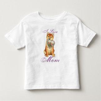 Camiseta Infantil Mamã do coração de Shiba Inu