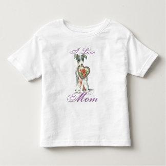 Camiseta Infantil Mamã do coração do galgo italiano