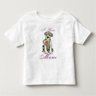 Camiseta Infantil Mamã do coração do Schnauzer padrão