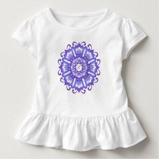 Camiseta Infantil Mandala étnica da cerceta. monograma