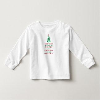 Camiseta Infantil Mantenha a calma para conhecer meu último filho