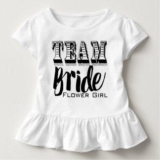 Camiseta Infantil Mão da noiva da equipe do florista rotulada