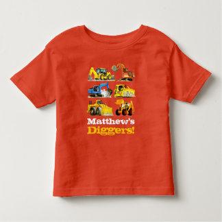 Camiseta Infantil Máquinas escavadoras gigantes conhecidas dos