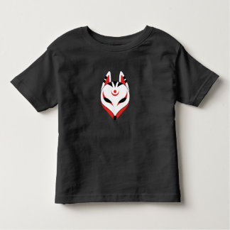 Camiseta Infantil Máscara do Fox de Kitsune do japonês