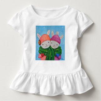 Camiseta Infantil Melhores amigos bonitos dos coelhos do t-shirt do