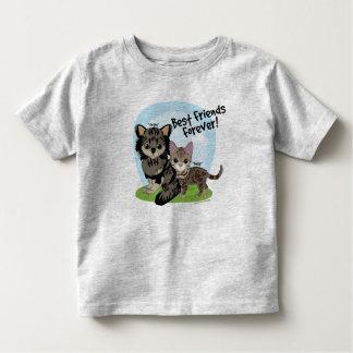 Camiseta Infantil Melhores amigos para sempre! Margarida e Angus