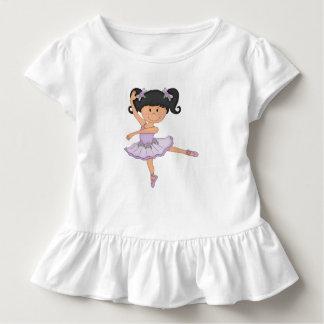 Camiseta Infantil Menina bonito da bailarina