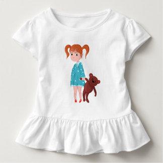 Camiseta Infantil Menina com urso de ursinho
