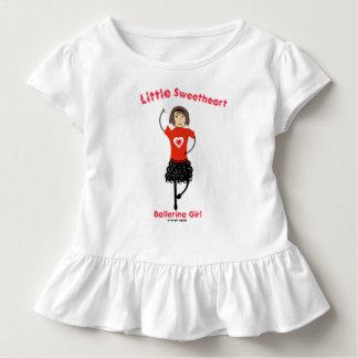 Camiseta Infantil Menina pequena da bailarina do querido