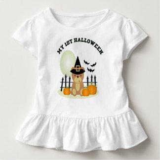 Camiseta Infantil Meu chapéu pointy do ø mês do bot da abóbora do