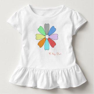 Camiseta Infantil Meu T feliz do Raffle da criança da flor
