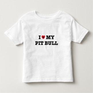 Camiseta Infantil Mim coração meu pitbull