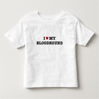 Camiseta Infantil Mim coração meu t-shirt da criança do Bloodhound