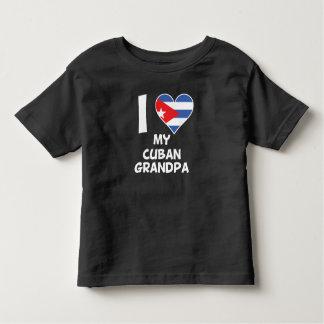 Camiseta Infantil Mim coração meu vovô cubano