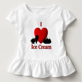 Camiseta Infantil Mim sorvete do coração