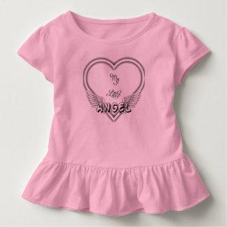 Camiseta Infantil Minha parte superior pequena do plissado do anjo