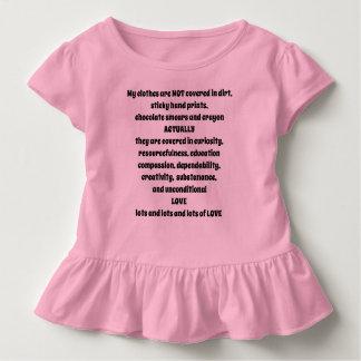 Camiseta Infantil Minha roupa não é - eu sou uma criança - T sujo