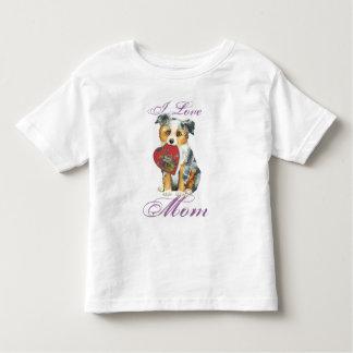 Camiseta Infantil Mini mamã americana do coração do pastor