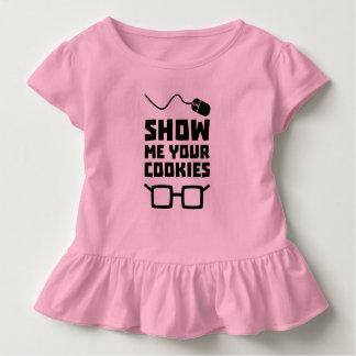Camiseta Infantil Mostre-me seu geek Zb975 dos biscoitos