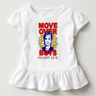 Camiseta Infantil Movimento de Hillary Clinton sobre o T do plissado