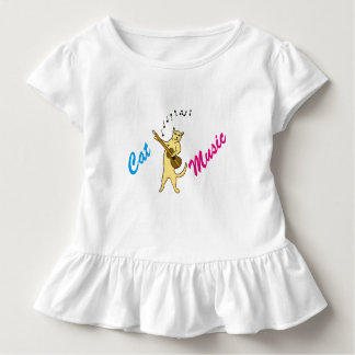 Camiseta Infantil Música do gato