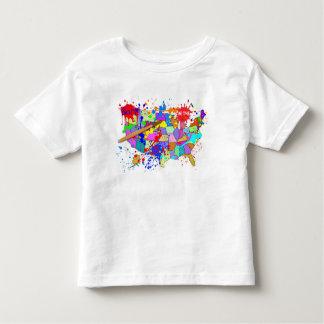 Camiseta Infantil Nascer nos EUA! Edição fresca da pintura